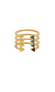 Stacked Triangles U-Ring Rebecca Minkoff $25