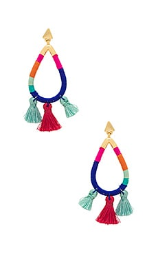 Tubular Thread Wrapped Earrings
