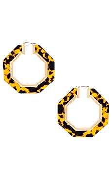 Octagon Resin Hoop Earrings Rebecca Minkoff $58