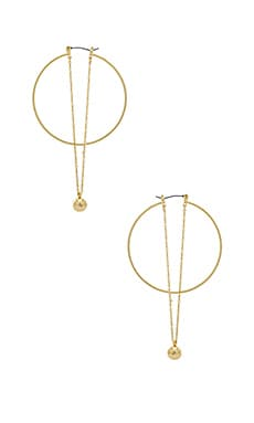 Ball And Chain Hoops Rebecca Minkoff $48