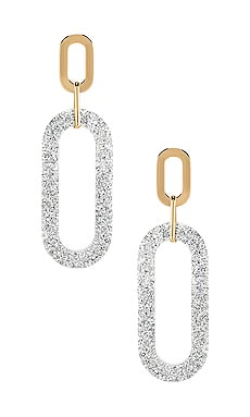 Glitter Double Resin Link Hoops Rebecca Minkoff $58