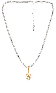 Rose Charm Beaded Necklace Rebecca Minkoff $58