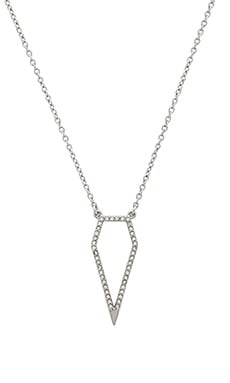Rebecca Minkoff Open Blade Necklace in Crystal