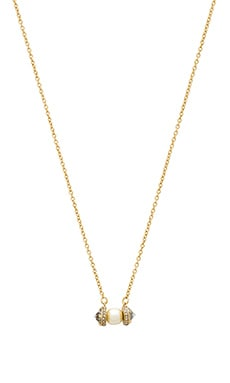 Rebecca Minkoff Crystal Pearl Pendant Necklace in Gold & Pearl