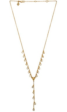 Rebecca Minkoff Crystal Lariat Necklace in Gold & Crystal