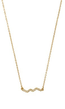 Rebecca Minkoff Crystal ZigZag Necklace in Gold & Crystal
