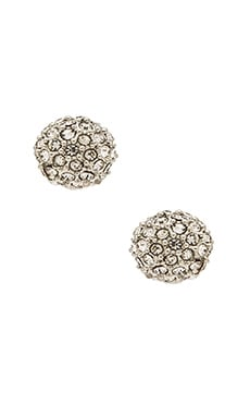 Rebecca Minkoff Crystal Ball Stud Earring in Rhodium & Crystal