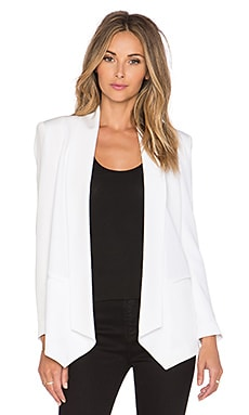 Rebecca Minkoff Long Becky Jacket in Chalk