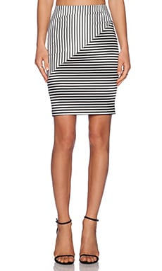 Rebecca Minkoff Jill Skirt in Black & White