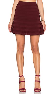 Rebecca Minkoff Gloria Skirt in Wine