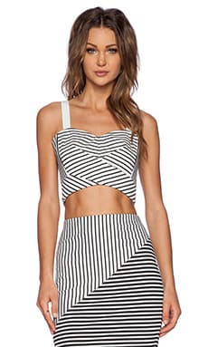 Rebecca Minkoff Cielo Bustier in Black & White