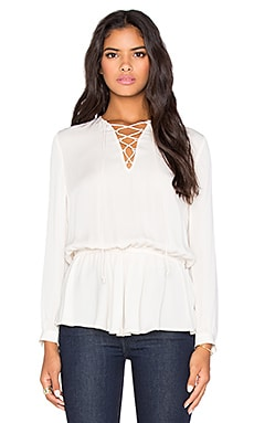 Rebecca Minkoff North Blouse in Cream