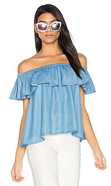 Dev Top en Denim - Light Blue