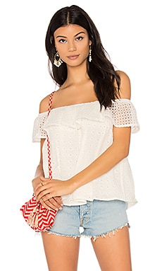 Celestine Top in White