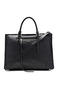 Large Regan Satchel Bag in Black