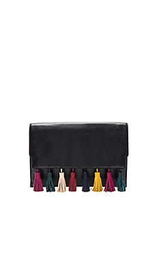 Sofia Clutch in Black Multi
