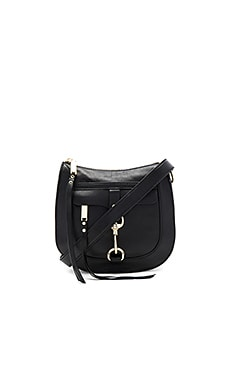 Dog Clip Saddle Bag in Black