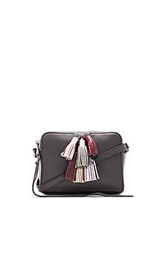 Mini Sofia Crossbody Bag en New Grey Metallic
