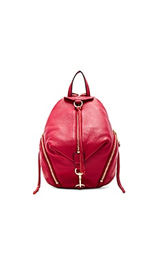 Medium Julian Backpack in Deep Red