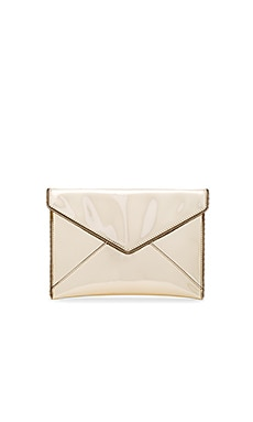 Leo Metallic Clutch in Pale Gold