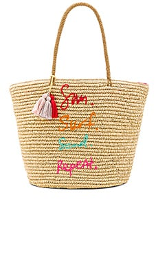 Sun Surf Sand Repeat Straw Tote