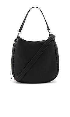 Unlined Convertible Hobo in Schwarz