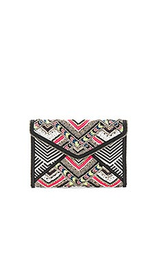 Wonder Leo Clutch in Black & White