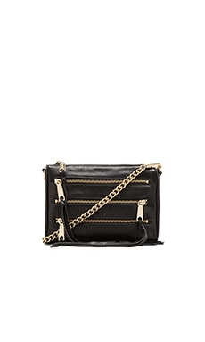 Rebecca Minkoff Mini 5 Zip Clutch in Black