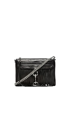 Rebecca Minkoff Fringe Mini MAC in Black