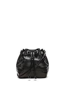Rebecca Minkoff Mini Fiona Bucket Bag in Black