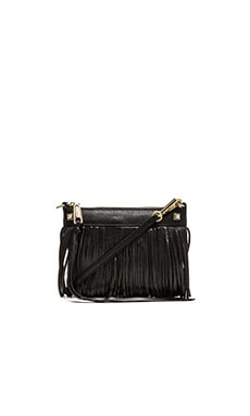 Rebecca Minkoff Mini Fringe Crossbody in Black