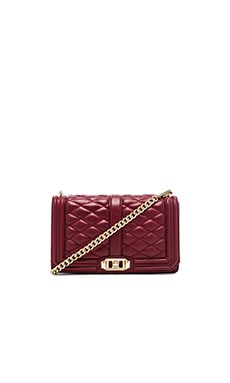 Rebecca Minkoff Love Crossbody in Merlot