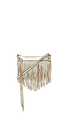 Rebecca Minkoff Mini Fringe Crossbody in Pewter