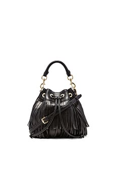 Rebecca Minkoff Fringe Fiona Bucket in Black