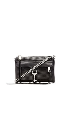 Rebecca Minkoff Mini MAC in Perforated Black