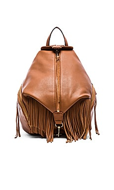 Rebecca Minkoff Fringe Julian Backpack in Almond
