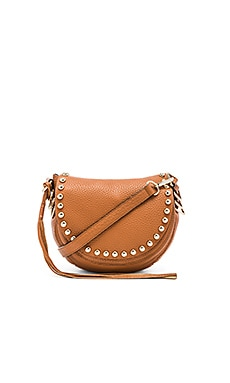 Rebecca Minkoff Unlined Saddle Bag in Almond