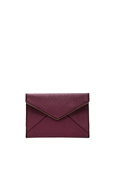 Rebecca Minkoff Leo Clutch in Tawny Port