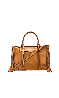 Rebecca Minkoff Fringe Regan Satchel in Almond
