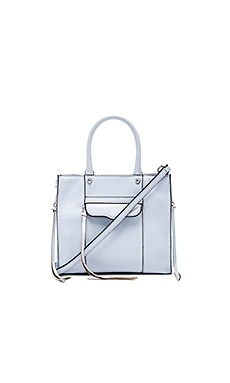 Rebecca Minkoff Side Zip MAB Tote Mini in Bleached Blue