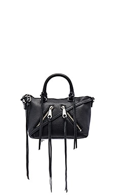 Rebecca Minkoff Micro Moto Satchel in Black
