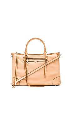 Rebecca Minkoff Large Regan Satchel Bag in Biscuit