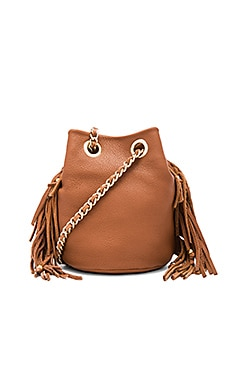 Fringe Bruni Bucket Bag en Amande
