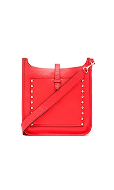Unlined Feed Crossbody Bag in Poppy Red
