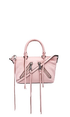 Rebecca Minkoff Micro Moto Satchel Bag in Pale Blush
