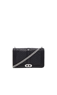 Rebecca Minkoff Geo Quilted Love Crossbody in Black