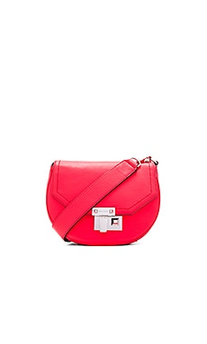 Rebecca Minkoff Paris Saddle Bag in Dragon Fruit