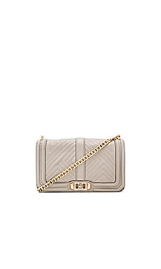 Geo Quilted Love Crossbody Bag in Khaki