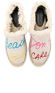 Baylee Beach Hair Dont Care Espadrille en Canvas Naturel