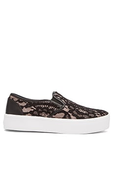 Rebecca Minkoff Sloane Slip On in Nude & Black Lace